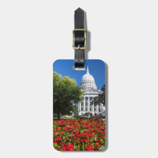Flowers In Front Of State Capitol Building Travel Bag Tags