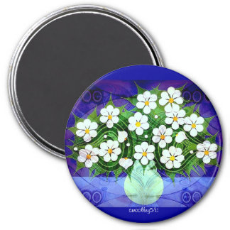 Flowers In Green Vase At Midnight Magnet