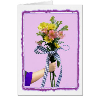 Flowers in Hand Greeting Card