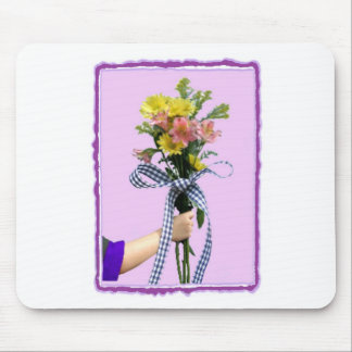 Flowers in Hand Mouse Mat