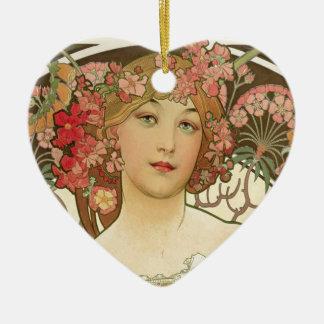 Flowers in her Hair Ceramic Ornament