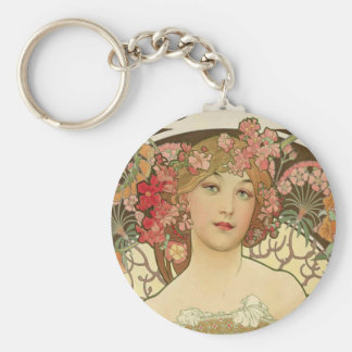 Flowers in her Hair Key Ring