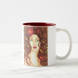 Flowers in Her Hair Mug 11oz (White/Maroon)