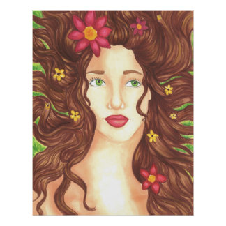"""Flowers in Her Hair Poster Matte (32"""" x 40.73"""")"""