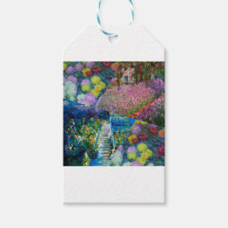 Flowers in Monet's garden are unique Gift Tags