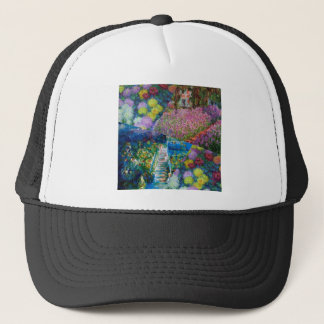 Flowers in Monet's garden are unique Trucker Hat