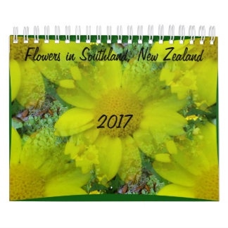 Flowers in New Zealand Wall Calendar