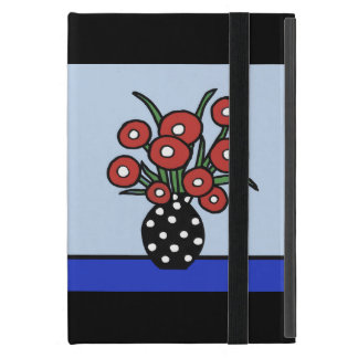 Flowers In Red Ipad Cover