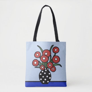 Flowers in Red Tote