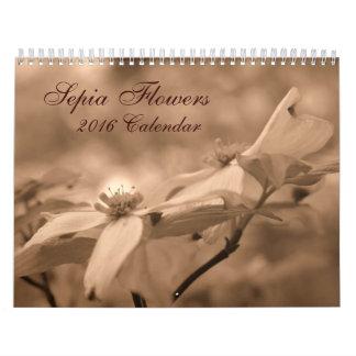 Flowers In Sepia Wall Calendar
