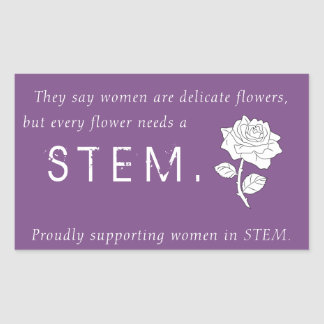Flowers in STEM Rectangular Sticker