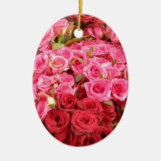 Flowers in the Philippines, pink and red roses Ceramic Ornament