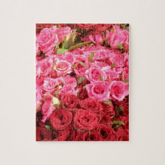 Flowers in the Philippines, pink and red roses Jigsaw Puzzle