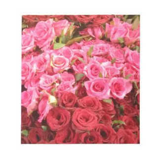 Flowers in the Philippines, pink and red roses Notepad