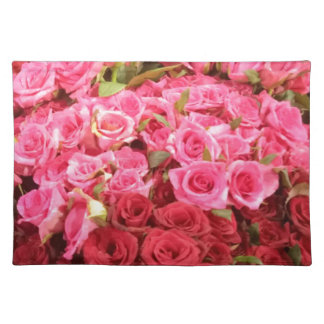 Flowers in the Philippines, pink and red roses Placemat