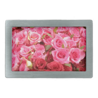 Flowers in the Philippines, pink and red roses Rectangular Belt Buckle