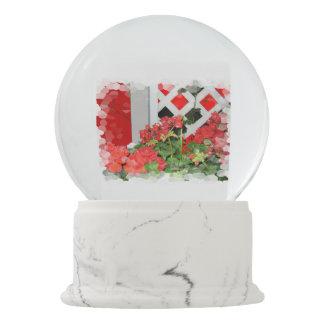 Flowers in the snow snow globe
