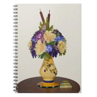 Flowers in Yellow Vase Notebook