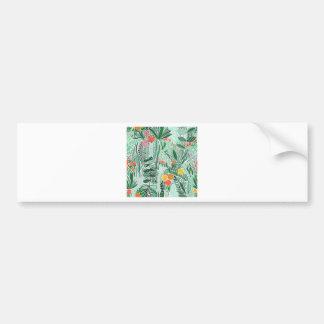 Flowers Indonesia ethno design Bumper Sticker