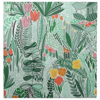 Flowers Indonesia ethno design Napkin