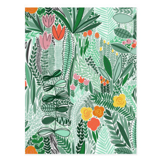 Flowers Indonesia ethno design Postcard