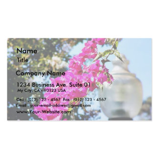 Flowers Lamps Posts Lights Business Cards