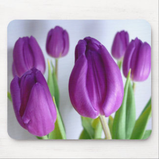 FLOWERS: Lavender Tulips Mouse Pad