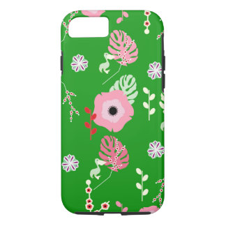 Flowers, leaves and little pelicans iPhone 8/7 case