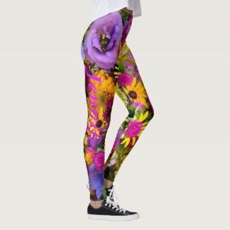 Flowers Leggings Running Pants Jogging Tights