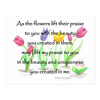 flowers lift their praise postcard