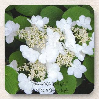 """""""Flowers Like Butterflies"""" Beverage Coasters"""