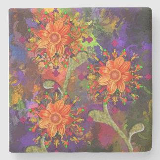 Flowers LimEstone coaster Stone Coaster