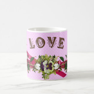 Flowers Love Cupids / Angels Coffee Mug