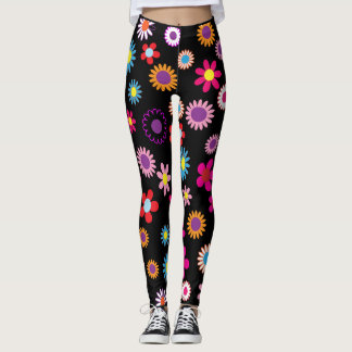 Flowers margaritas colourful leggings