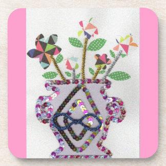 Flowers Meet Vase Coaster