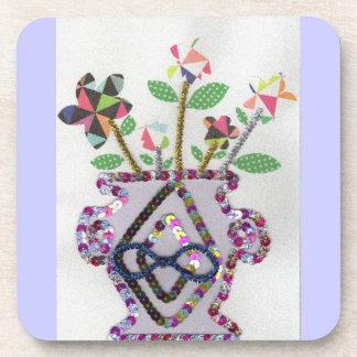 Flowers Meets Vase Coasters