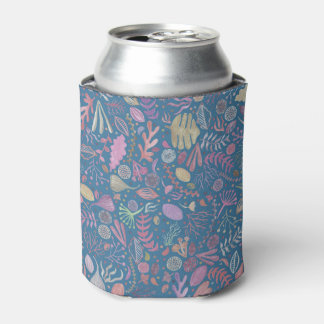 Flowers multicoloured smooth watercolors can cooler