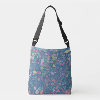 Flowers multicoloured smooth watercolors crossbody bag