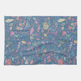 Flowers multicoloured smooth watercolors kitchen towels