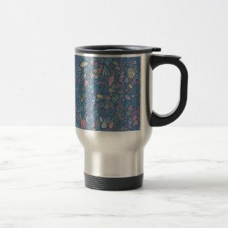 Flowers multicoloured smooth watercolors travel mug