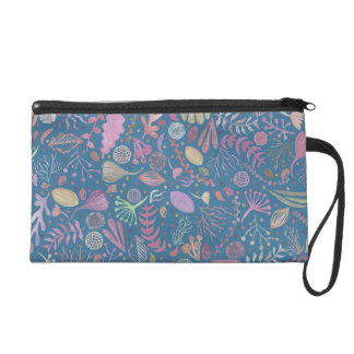 Flowers multicoloured smooth watercolors wristlet