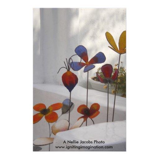Flowers-Mykonos, Greece Stationery Paper