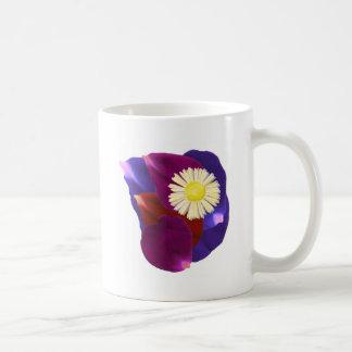 Flowers n Blessings go together : Rose Petal Art Basic White Mug