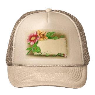 Flowers Name Tag Cap