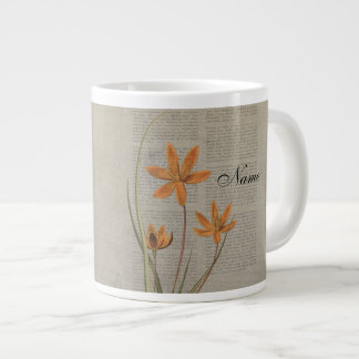 Flowers Newspaper Large Coffee Mug