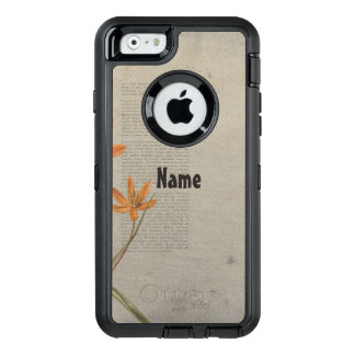 Flowers Newspaper OtterBox Defender iPhone Case