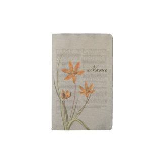 Flowers Newspaper Pocket Moleskine Notebook