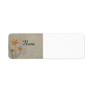 Flowers Newspaper Return Address Label
