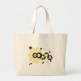 Flowers Obama Large Tote Bag