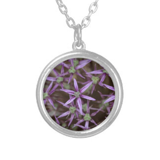Flowers of a Persian onion Silver Plated Necklace